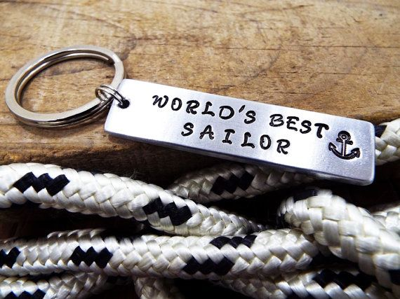 World's Best Sailor Keychain  FREE Shipping  by Aluminiopassions