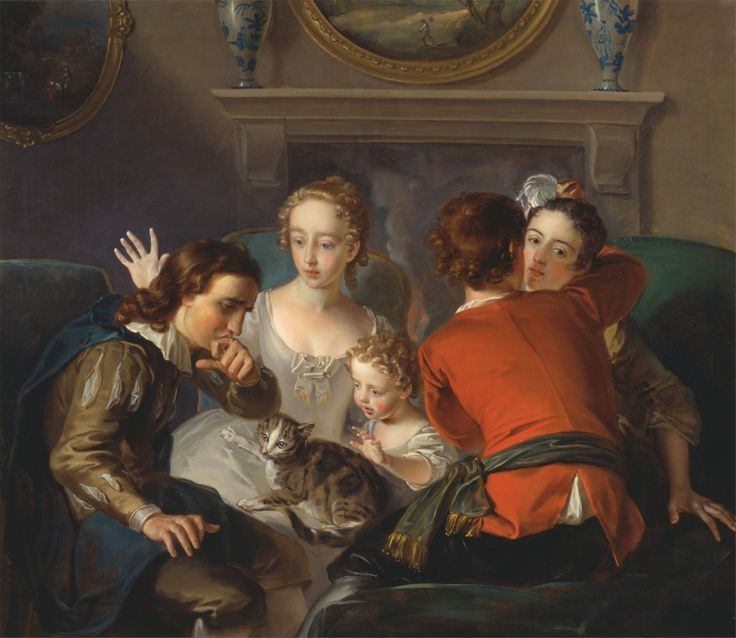 Le sens du toucher, Philippe Mercier, 1744-1747.Source: cc