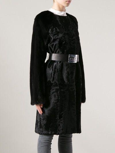 GUY LAROCHE - belted fur coat 9