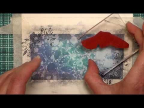 Distress Oxide Ink One Layer Card // Stamp School - YouTube
