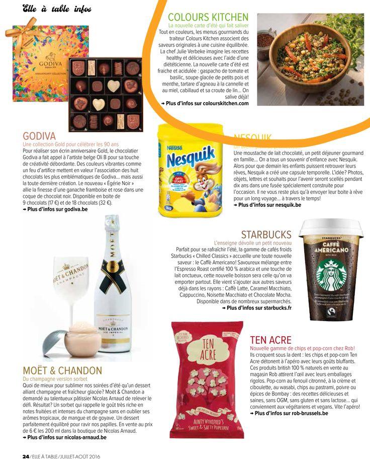 Le ELLE A TABLE parle de Colours Kitchen dans son numéro de juillet/août !