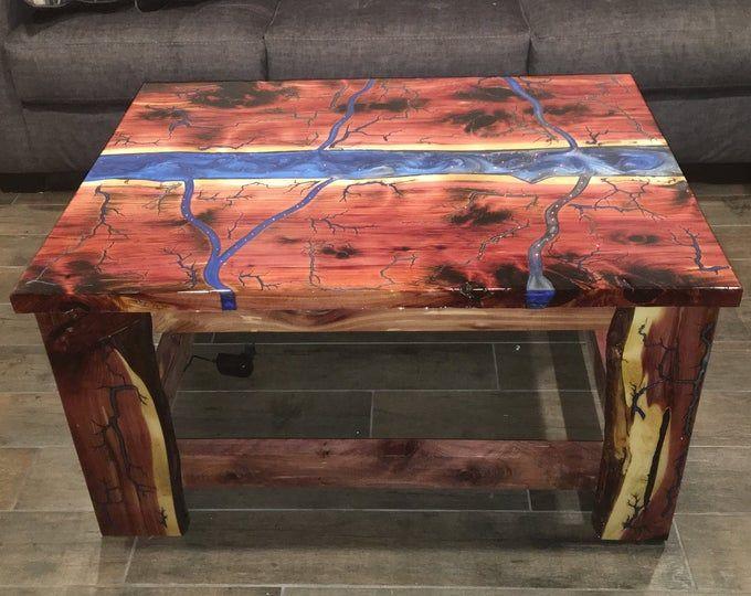 Resin Coffee Table Walnut Coffee Table Wood Epoxy Resin Wooden