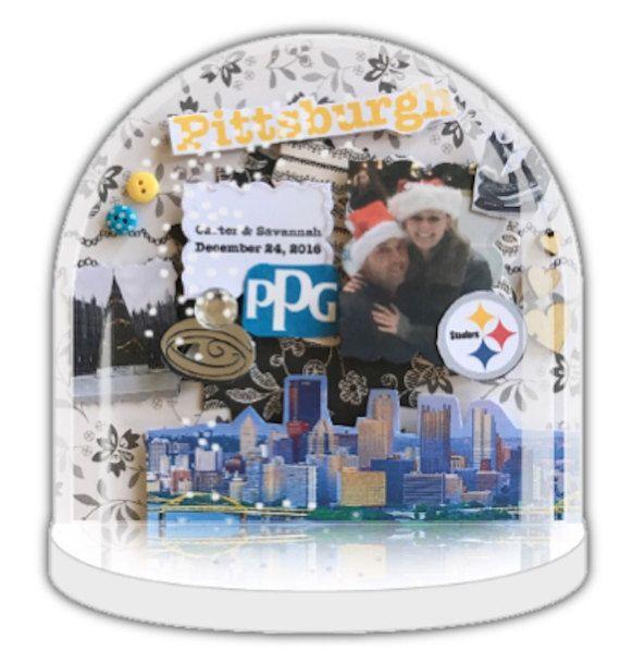 Engagement gift, Personalised snow globe, snow globe ornament handmade design, bridal shower gift, keepsake, photo gift, snow globe decor