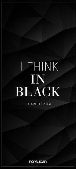 """""""I think in black"""" - Gareth Pugh"""