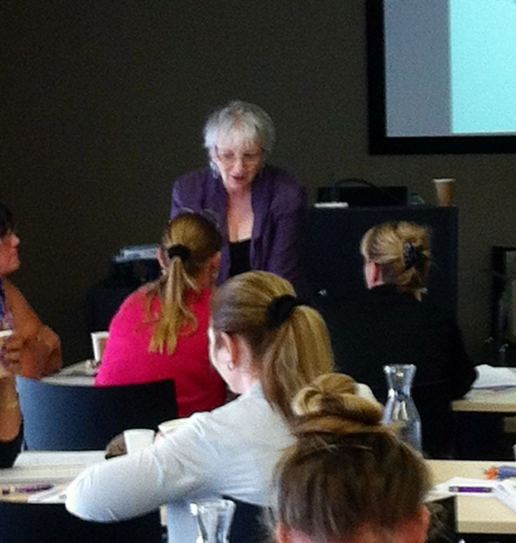 Author Diana Kerr chats with participants of her seminar on night time care for people with dementia in Hammondville on Monday.   Diana is conducting the seminar at Newcastle today and in Melbourne on Friday.  She is the author of Providing Good Care at Night and Night Time Care: A Practice Guide available from hammondpress.com.au