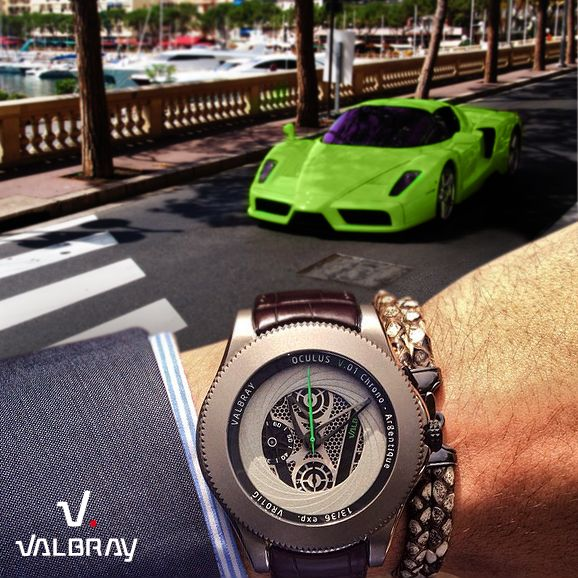Green Color Touch with the Oculus Chrono Hypnosis Grey ! Click http://valbray.ch/watch/argentique-grey
