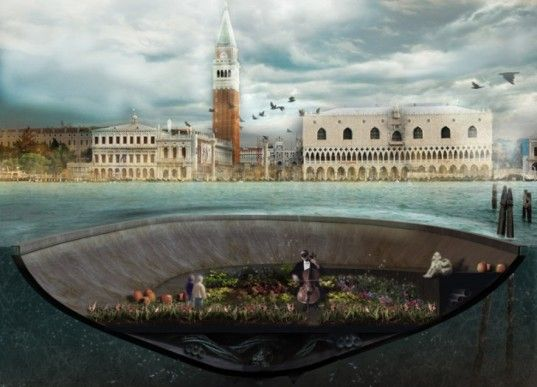 green design, sustainable design, bam!, Italy, Venice, floating pods, floating rooms, CityVision Design Competition, organic, allotments, floating gardens