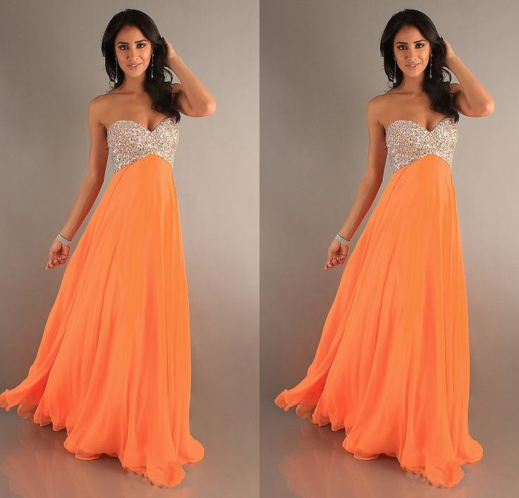 17 Best ideas about Orange Prom Dresses on Pinterest | Pretty ...