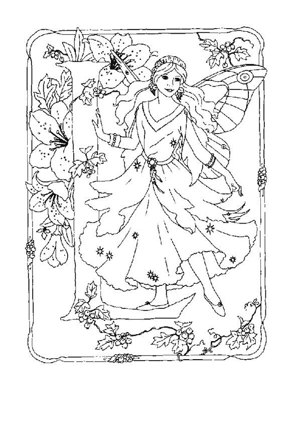 Find This Pin And More On Fairy Coloring Pages