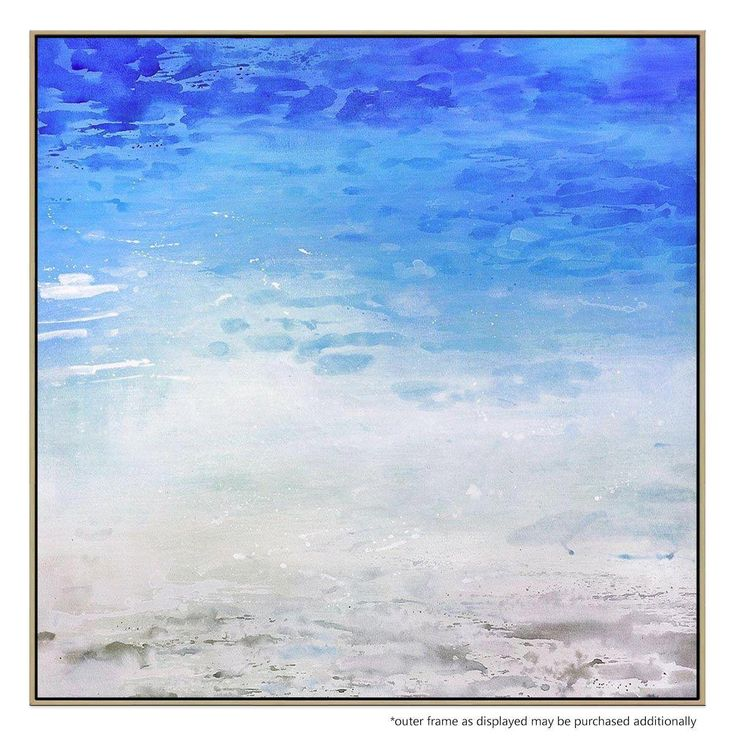 Tranquil and serene, this lushly produced portrait of the beach is designed to bring an ambient feel to any space.