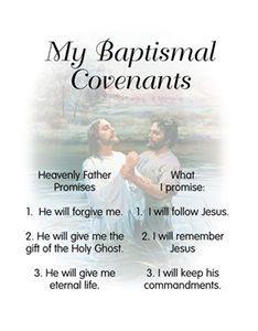 lds baptismal covenants - Google Search