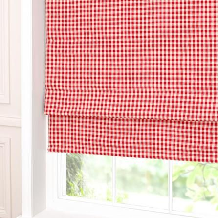red gingham blackout roman blind dunelm kitchen. Black Bedroom Furniture Sets. Home Design Ideas