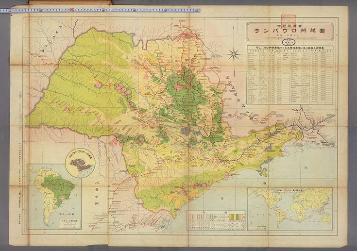 Distribuição dos imigrantes japoneses no estado de São Paulo