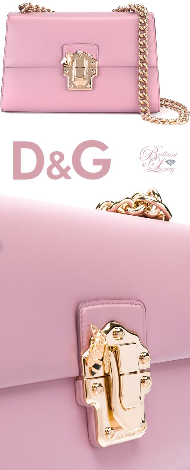 Brilliant Luxury by Emmy DE ♦ Dolce & Gabbana Chain Strap Shoulder Bag