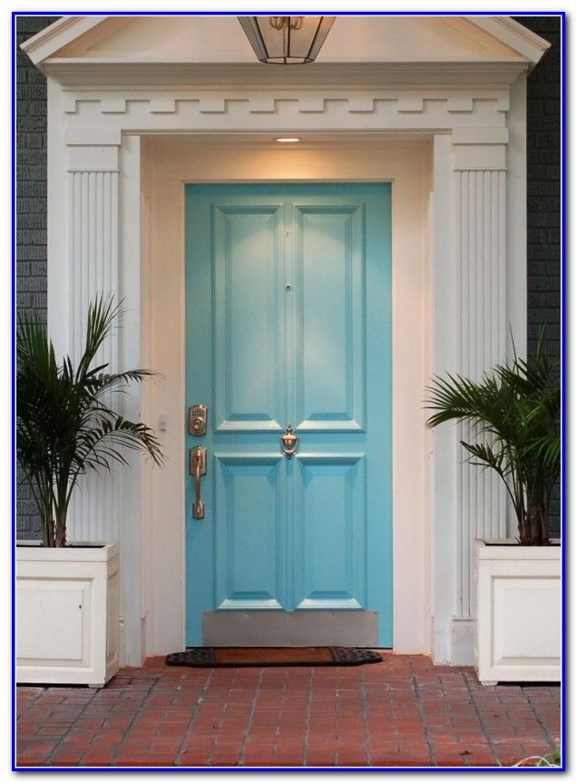 Front Door Colors For Yellow Brick House