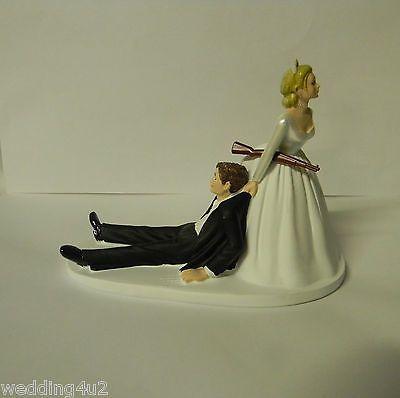 Wedding Reception Party Hunter Hunting Cake Topper Rifle Gun Humorous