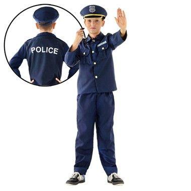 Politiepak met pet - maat 122  Ga met carnaval of een ander gezellig themafeest verkleed als stoere politieman met dit fantastische drie-delige politiepak. Pak alle boeven en sluit ze op in de gevangenis.  EUR 9.98  Meer informatie