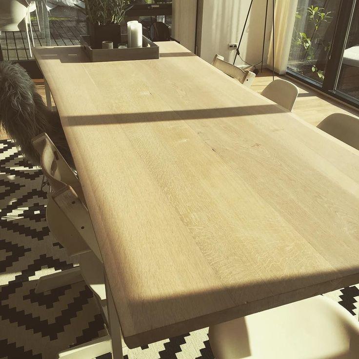 Træborde by Jakobsen #træbord #egetræsbord #woodwork #oaktreetable de gizmogeardk