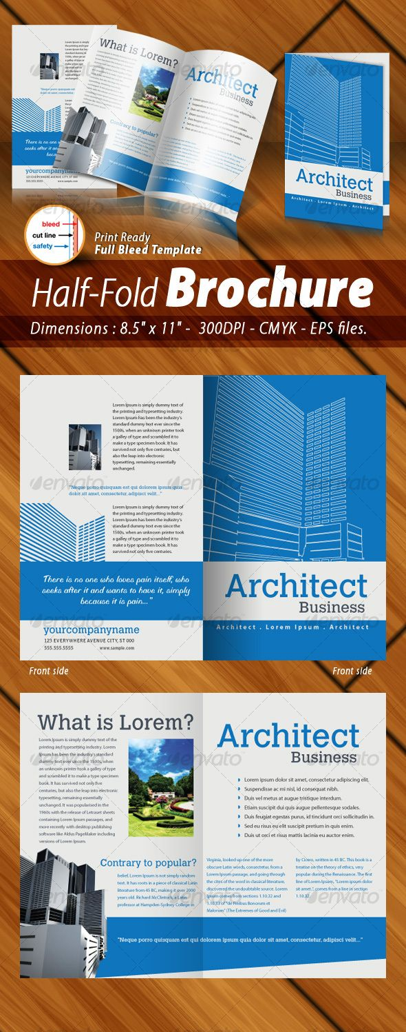 Half-Fold Brochure Panels [ 4 Pages ] Print Ready