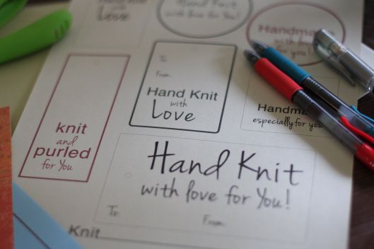 Knitting Gift Tags : Best images about printables on pinterest knitting