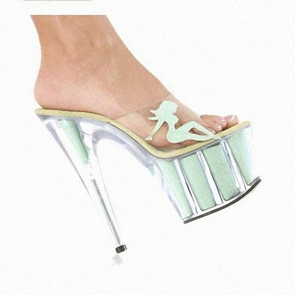 Interdiffused Pink Crystal Slippers 15 High-Heeled Shoes Fashion Women's Shoes Beauty Decorative Crystal Stripper Shoes
