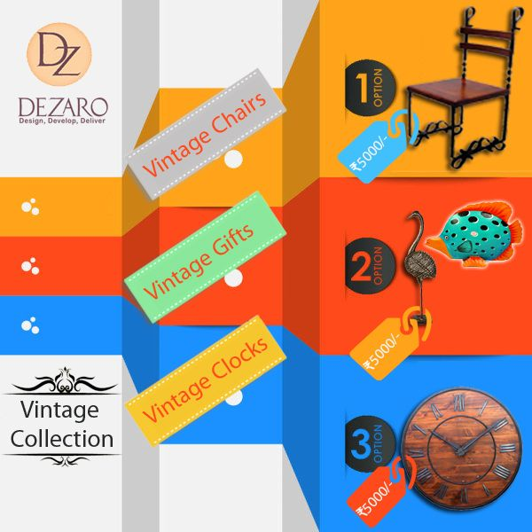 New Vintage Collection @ Lowest Price Call us: 77-27-06-31-31 Email Us: info@dezaro.com Visit Us: www.dezaro.com