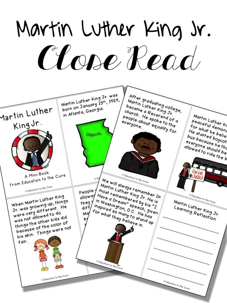 Martin Luther King Jr. Mini Book/Close Read Activities and a special FREEBIE!
