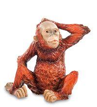 """WS-762 Статуэтка """"Детеныш орангутанга"""" скульптура обезьяна символ года 2016 новогодние подарки на новый год сувениры фигурка обезьянка новогодняя купить"""