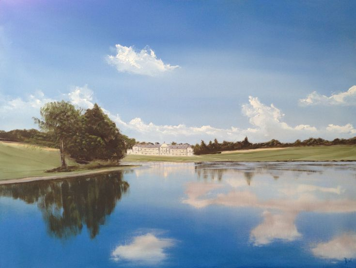 ARTFINDER: Woburn Abbey by Dan Wellington - My depiction of this classic English estate house. The house and gardens reflect gloriously into one of the many lakes creating a lasting impression of a sum...