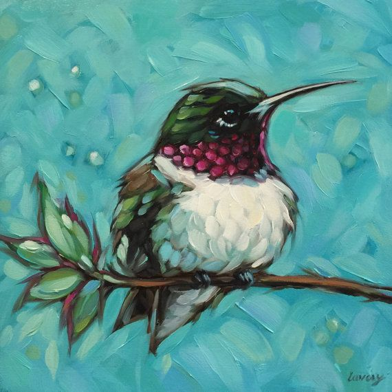 Reserved for Janelle, Custom order - Hummingbird painting, Artwork is photographed and the image is adjusted to match the original painting as possible. Copyrights of all artwork are non-transferable with sale. Andrea Lavery Art © all rights reserved