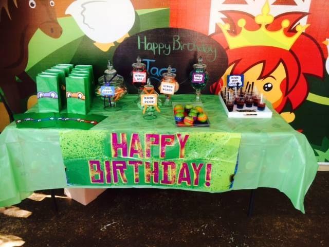 Ninja turtle theme birthday lolly buffet