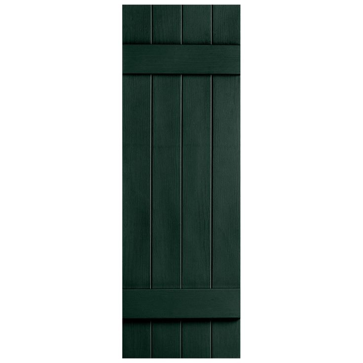 Features Set Includes 2 Vinyl Shutters Hardware Includes Style 4 Board Closed Heavier
