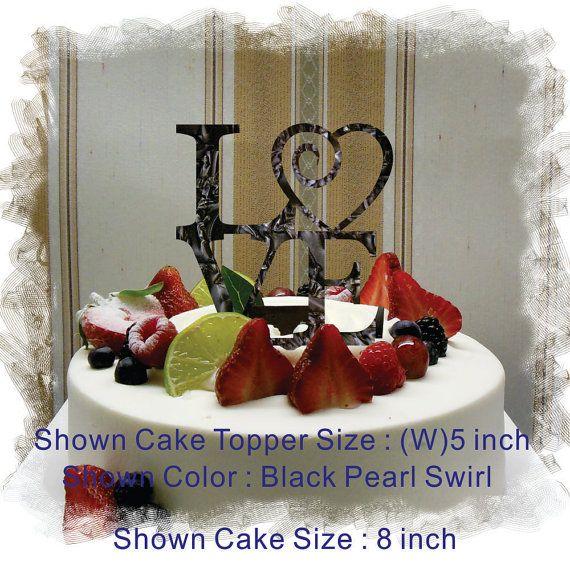 Monogramma Wedding 5 o 6 amore Cake Topper taglio di CaketopperLF