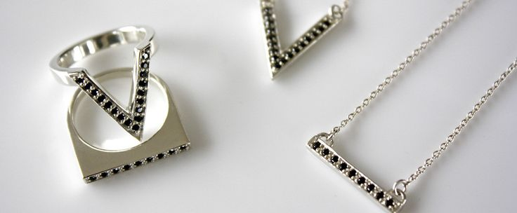 Jessica Aggrey Jewellery D V black diamonds and sterling silver.