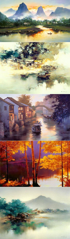 Нео-импрессионизм Ken Hong Leung   искусство   Постила
