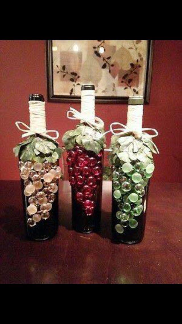 859 best wine bottle art other types of bottles images on for Wine bottle arts and crafts