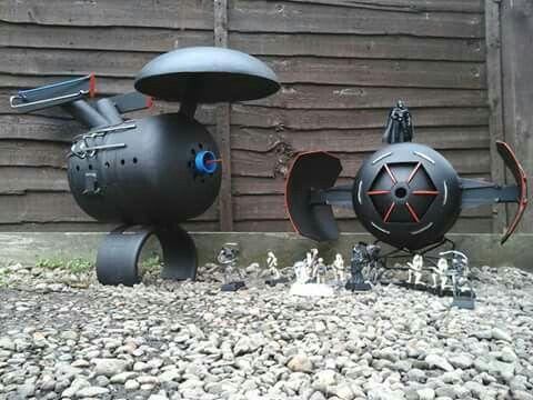 Uss Enterprise Wood Burner Meets Darth Vader And His