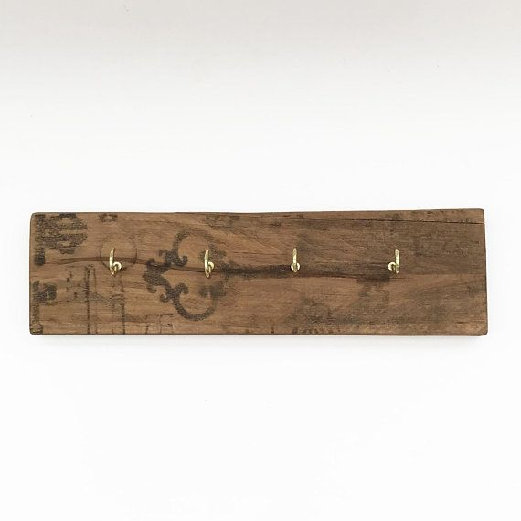 Rustic Wood Key Rack Wooden Key Holder Wood Decor Rustic Wood