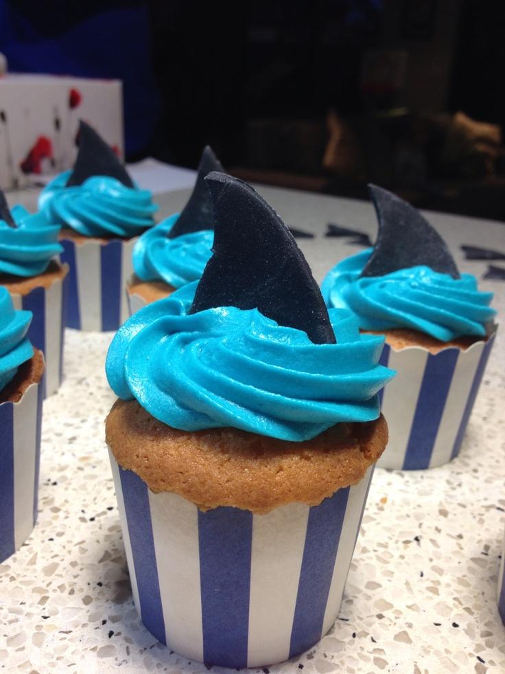 Shark cupcakes!