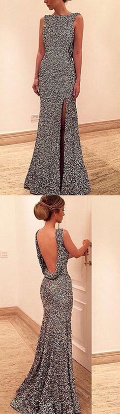 Long prom dresses,silver prom dresses, backless prom dresses, prom dress