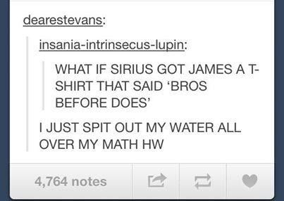 Sirius would totally do something like that.