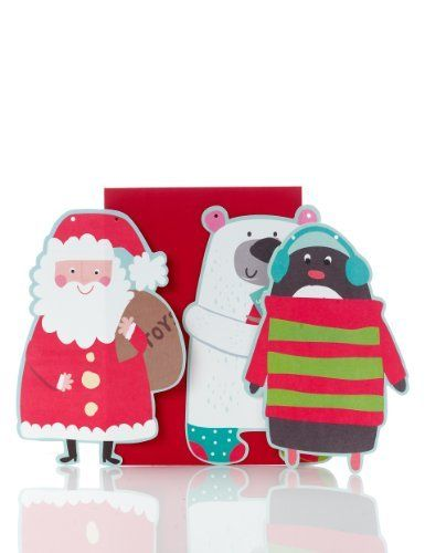 Decorate Your Own Kids' Characters Bunting Christmas Card-Marks & Spencer designed by sarah hoggard