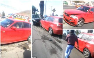 A jealous wife was filmed smashing her car repeatedly into her husbands after discovering he was having an affair. A witness filmed the scene in the city of Arica in the northern Chilean region of the same name as the woman deliberately drove her red BMW into her husbands black car. Chilean police said the woman started her destructive driving after seeing her husband pick up another woman from a shop doorway. She followed them until he parked and they got out then started destroying his…