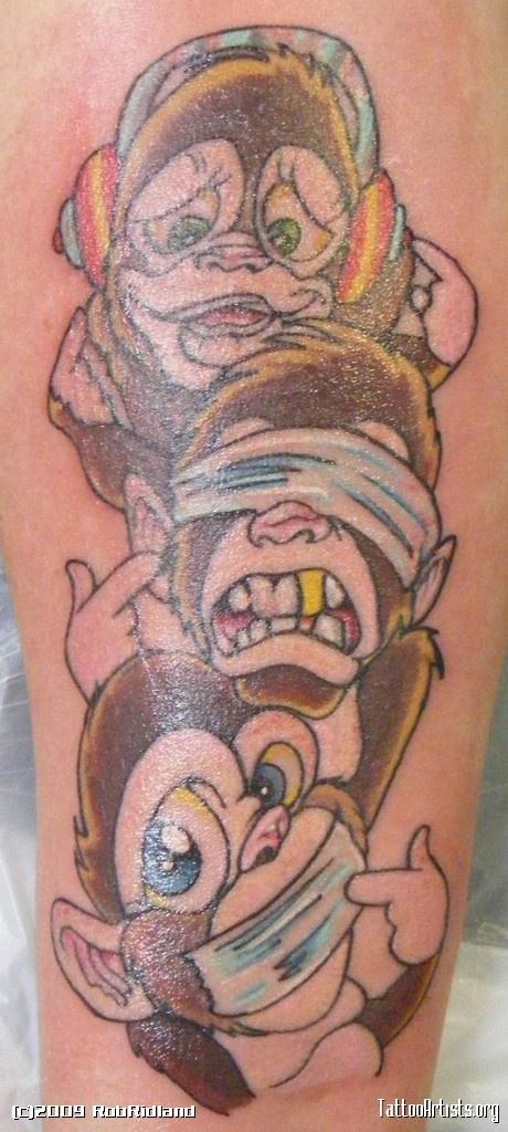 53 besten monkey tattoos bilder auf pinterest affentattoos affen und farbtattoos. Black Bedroom Furniture Sets. Home Design Ideas
