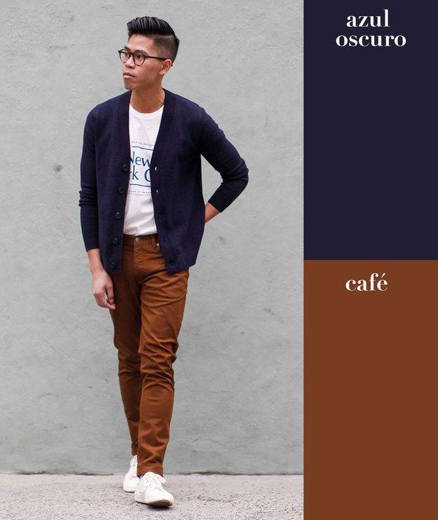 Azul oscuro + café | 17 Combinaciones de color que todo hombre puede usar