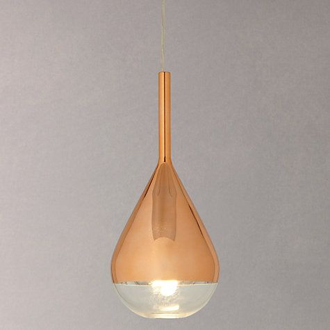 Buy John Lewis Pianto Glass Ceiling Pendant Online at johnlewis.com Kitchen? Kate we love these, maybe three over the table in front of the doors