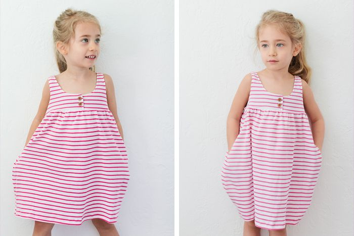 Comfy knit dress tutorial...one day, before she grows out of the wearing dresses all the time stage?