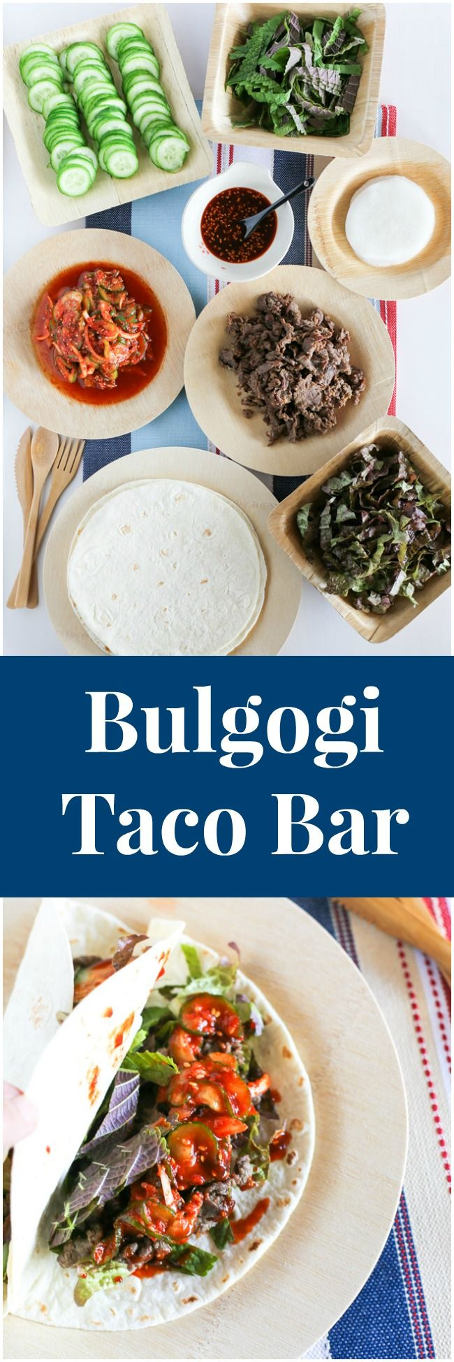 Korean bulgogi taco bar: Mexican fused but loaded with authentic Korean flavour!| MyKoreanKitchen.com