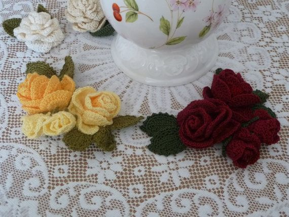 Four Roses Corsage by Aimezvousclassique on Etsy
