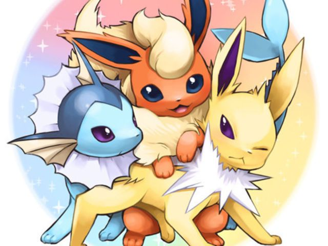 I got: Jolteon, Flareon, And Vaporeon! What Eeveelution Are You?